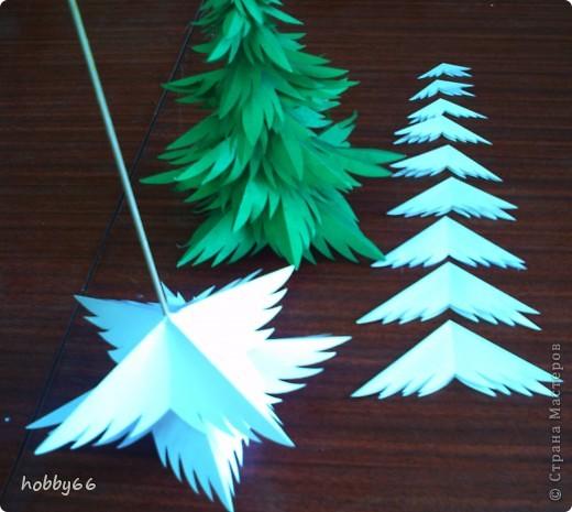 Поделки из бумаги елка из бумаги